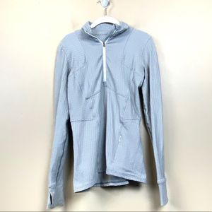 Lululemon gray chevron half zip jacket pullover 6
